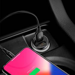 Baseus Gentleman зарядно за кола с 2 USB 4.8A