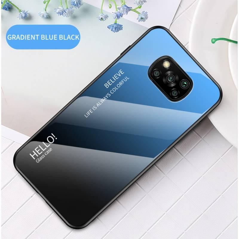 Glass хибриден кейс със стъклен гръб за Xiaomi Poco X3 NFC - черен