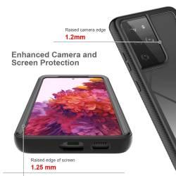 360 Dual хибриден кейс с предна рамка за Samsung Galaxy S21 Ultra