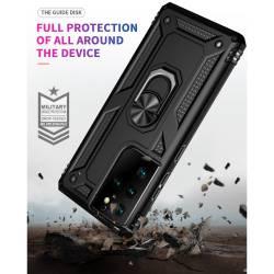 Противоударен гръб с kick stand стойка за Samsung Galaxy S21 Ultra - черен