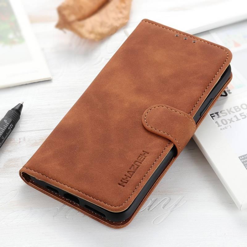 Classic Wallet кожен калъф за Samsung Galaxy S21 Ultra - син