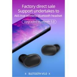52425 - TWS A6s Bluetooth безжични стерео слушалки с микрофон - 100101945