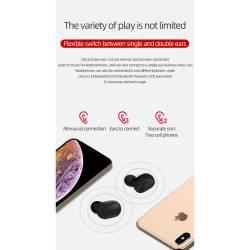 52429 - TWS A6s Bluetooth безжични стерео слушалки с микрофон - 100101945