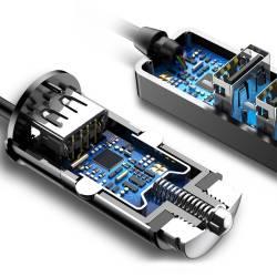 52708 - Baseus CCTON-01 зарядно за кола с 4 USB 3.1A - 102700398