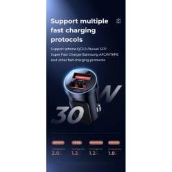 52734 - JOYROOM QC3.0 30W зарядно за кола с 2 USB 4.5A - 102700620