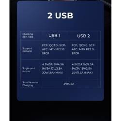 52736 - JOYROOM QC3.0 30W зарядно за кола с 2 USB 4.5A - 102700620
