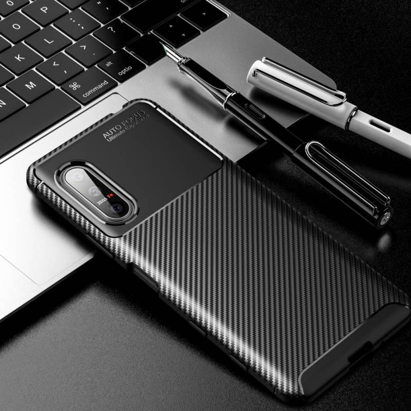 iPaky Carbon силиконов кейс за Sony Xperia 5 II - 54336
